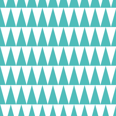 Seamless trendy pattern made on turquoise and white color. Geometric template. Aquamarine background made from triangle. Azure design. Texture for wallpaper, paper, print, fabric, wrap, cover, package