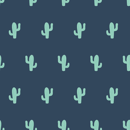 Cute cactus seamless pattern. Mexican ethnic classical embroidery, succulent cactus latin america background in vector Illustration