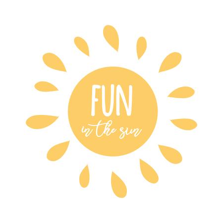 Hello Summer lettering design. Vector illustration