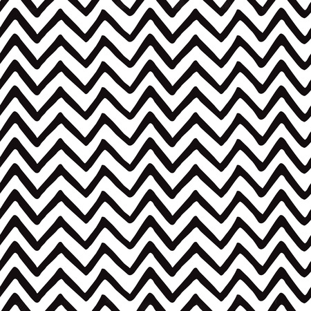 Geometric Seamless zigzag pattern made on black and white colors. Repeated background, backdrop or invitation card abstract design. Vector tribal ethnic design Aztec geometric background Boho print Çizim
