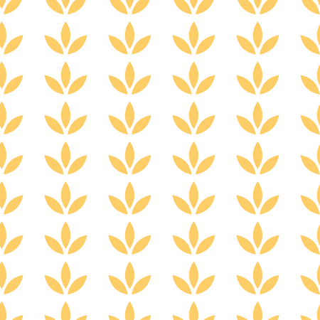 Floral paper seamless pattern with flower ornament in yellow summer colors Vector illustration Illustration