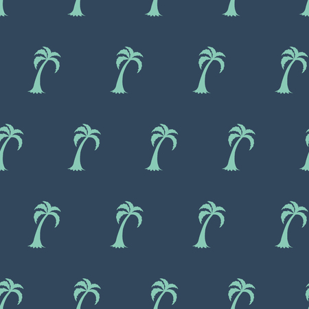 Palm tree seamless pattern Summer tropical classical embroidery men background Template for clothes textiles t-shirt design Vector illustration Doodle Green grey colors Modern botanical boys print. Stock Photo