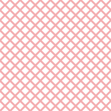 Romantic pink collection seamless pattern with trendy stylish cell Gingham, volume strips of cells made on green color. Vector illustration Background little baby girl wallpaper, package design.
