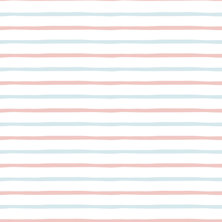 Seamless striped pattern Baby background in light pink blue color Great for girl boy design Cute striped geometric background Strokes lines template for wrapping wallpaper textile Vector illustration.
