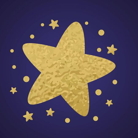 Gold glitter star decor little stars with gold stars for print design template
