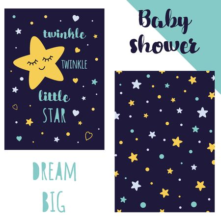Baby shower invitation template Illustration