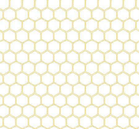 Bezszwowy wzór plastra miodu żółte tło wzór pszczół Prosty szablon