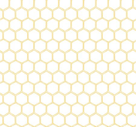 Seamless Honeycomb Pattern yellow background bee pattern Simple template Stok Fotoğraf - 130020277