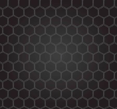 Seamless Honeycomb Pattern Sweet black background bee pattern Zdjęcie Seryjne - 130020278