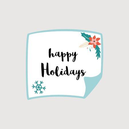 Christmas sheet of paper Merry Christmas greeting card Christmas star flower Winter element Banco de Imagens - 132138604