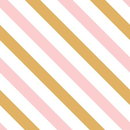 Abstract diagonal backgrounds. Seamless pattern made on pink gold color. Pastel lines. Texture can be used for print pattern fills, web page, wrap decoration background. Wallpaper for baby girl.