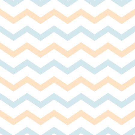 Baby background Classic chevron zigzag seamless pattern en light pastel blue yellow colors. Memphis group style Gentle baby shower design templete Cloth fabric Shevron repeat vector illustration. Stock fotó