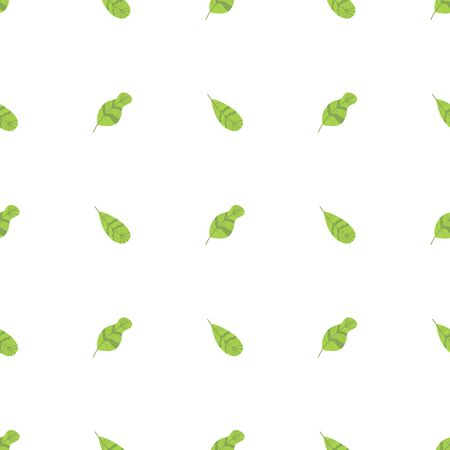 Simple floral summer seamless pattern Green leaves feathers on white background Spring natural ecological textile
