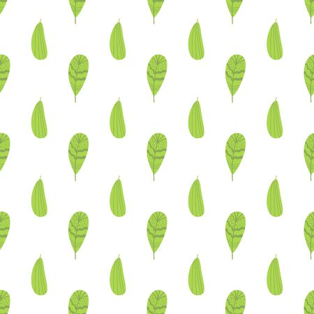 Green graphic foliage seamless pattern Green hand drawn leaf repeat background Natural leaves fabric print Stock fotó - 136449390