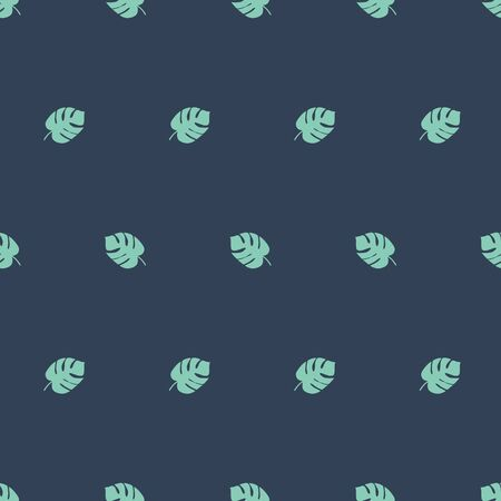 Monstera seamless pattern. Boy green grey background Male clothing Tropical leaves fabric design