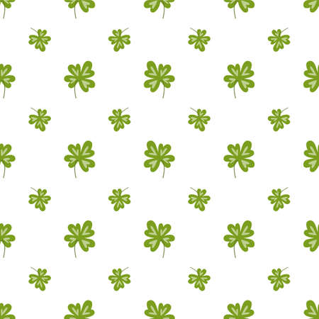 Four leaf clover pattern Seamless fortune clover background Luck print textiles nature