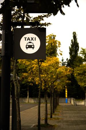 タクシー乗り場 写真素材