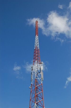 Communication tower for radio and television Banco de Imagens
