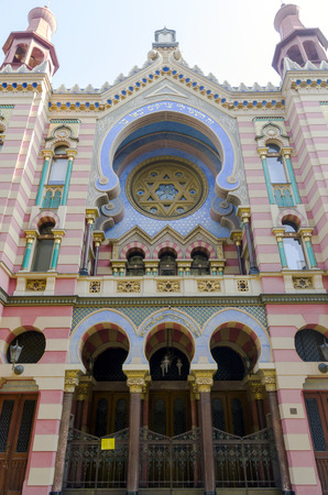 The Jerusalem Synagogue in Prague photographed by photo