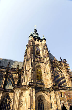 vitus: St  Vitus cathedral in Prague in the afternoon sun Stock Photo