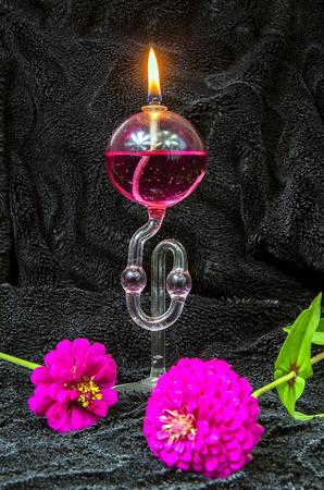 Catalyst: Kerosene lamp with fragrance on the black velvet