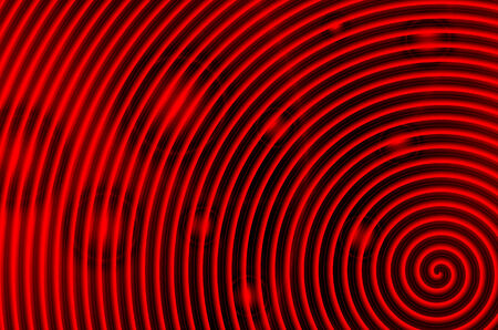 Red and black swirl with red circles photo