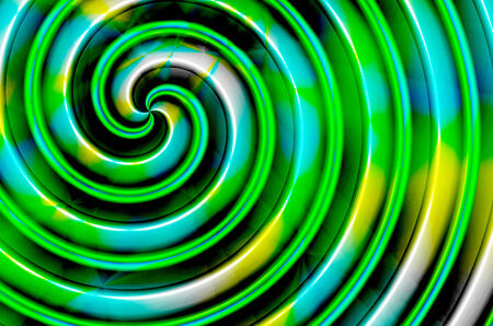 Green blue yellow black spiral turned to the left photo