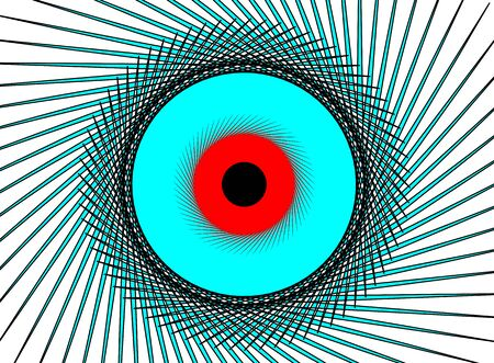 red eye: Illustration of blue red eye on a white background