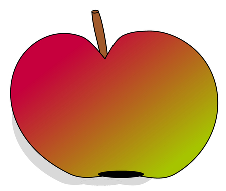 Colorful apple on a white background-vector illustration Vector