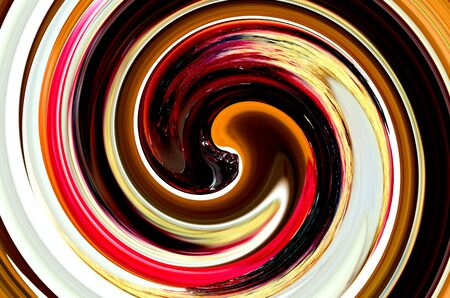 brown swirl: Multicolored abstract swirl, white, orange, brown, black