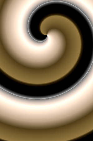 brown swirl: Abstract swirl brown black white - illustration