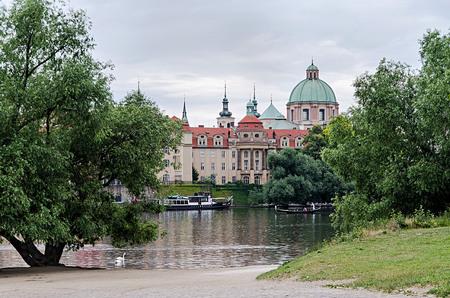 citytrip: Prague, Czech Republic-June 29, 2015: Prague, view of the river Vltava