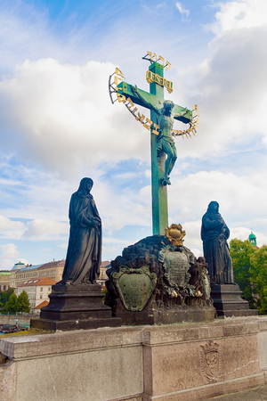 calvary: Sculptural group of the Holy Cross and Calvary, Czech Republic, arts, Hebrew