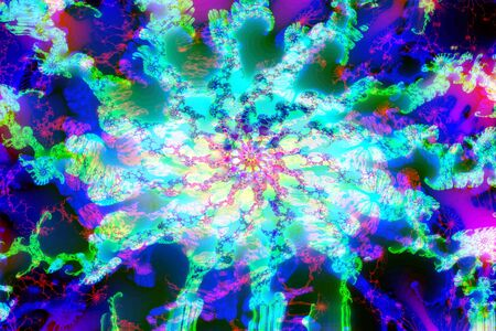 computer art: Multicolored abstract fractal, art, computer, generated, special