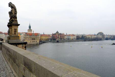 czech culture: Prague, Czech Republic - January 4, 2016: A view of National Theatre, Charles Bridge, tourism, culture, nation Editorial