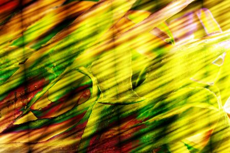green yellow: Illustration green yellow red shapes, decoration, abstract Stock Photo