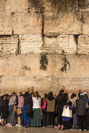zionism: The Western Wall, Kotel or The Wailing Wall. The place where Divinity never departs. Female part. Israel, Jerusalem