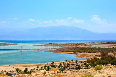 salinity: Kibbutz on the bank of the Dead Sea Israel