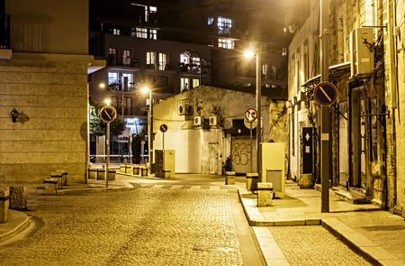 jewish home: Illuminated street of old Jaffa