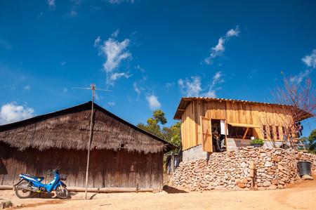 A couple of Miao peoples huts at Khun Chang Kian, Chiang Mai, Thailand
