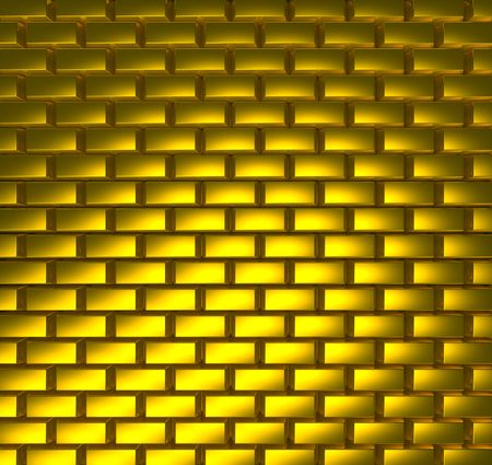 Texture from gold bricks Stock Photo