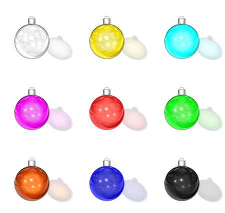 Motley glass christmas balls