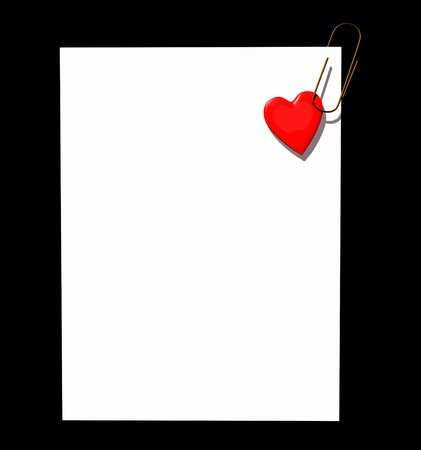 Heart page clip Stock Photo - 8472525