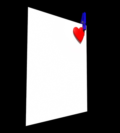 Heart page peg Stock Photo - 8472523