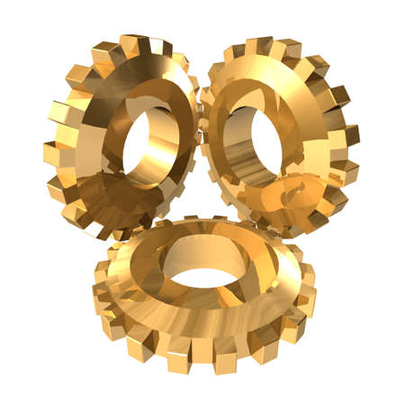 Gold gears photo
