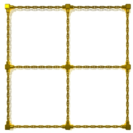 Gold chains frame Stock Photo