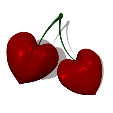 Cherry hearts photo