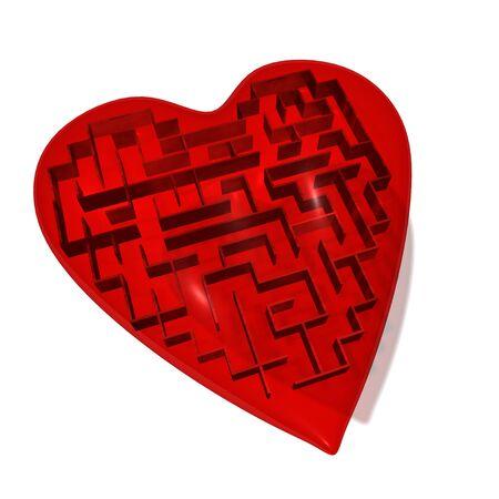 Heart maze Stock Photo - 8603847