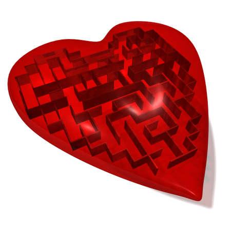 Heart maze Stock Photo - 8603849