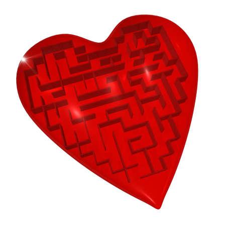 Heart maze Stock Photo - 8603851